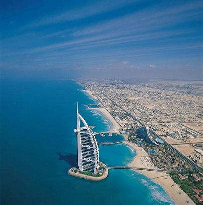 The Burj Al Arab. The World's Only 7 Star Hotel.