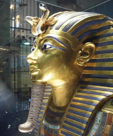 King Tutenkhamun's Gold Burial mask.