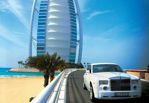 We Were Chauffered To The Burj by Rolls Royce.
