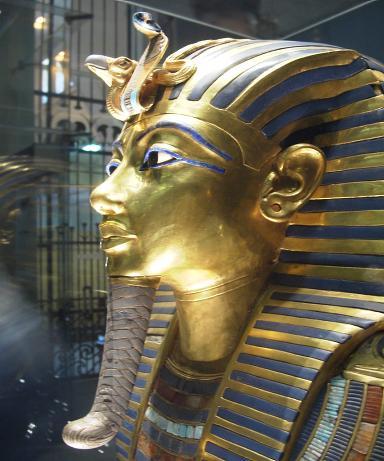 King Tutenkhamun's Gold Burial mask.