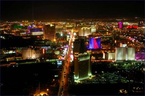 Vegas At Nightime.